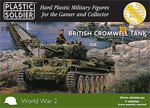 15mm Easy Assembly Cromwell Tank #PSC WW2V15022 Unpainted Miniatures