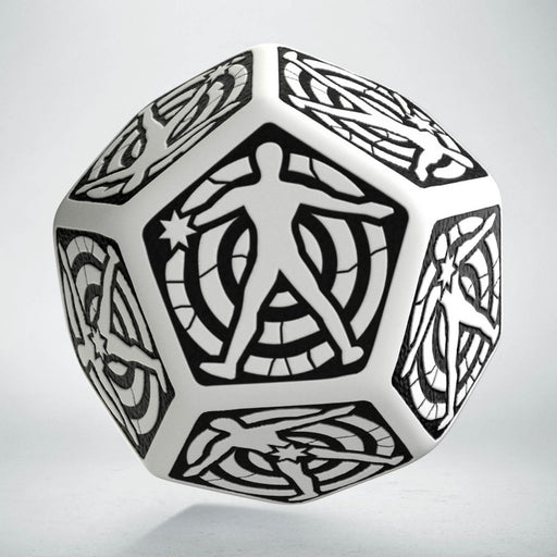 Q-Workshop D12 Hit Location Dice - White with Black (1 Die)