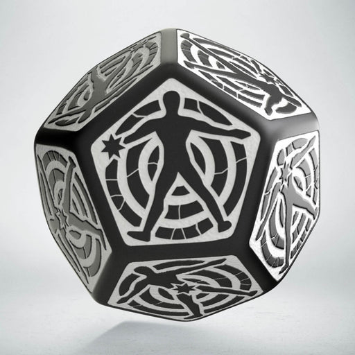 Q-Workshop D12 Hit Location Dice - Black with White (1 Die)