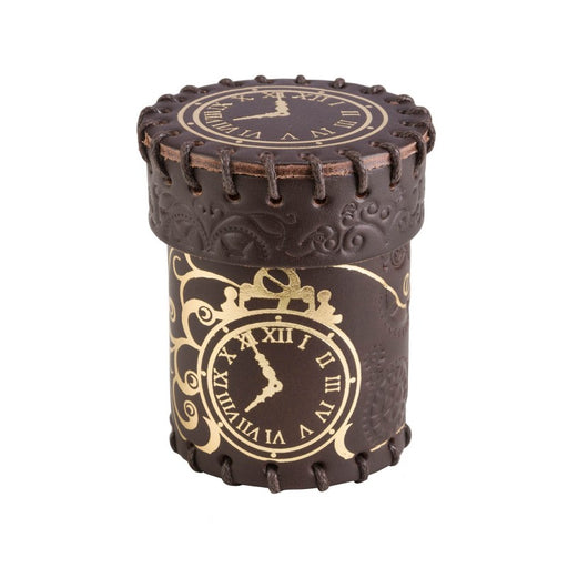 Q-Workshop Steampunk Brown & Golden Leather Dice Cup