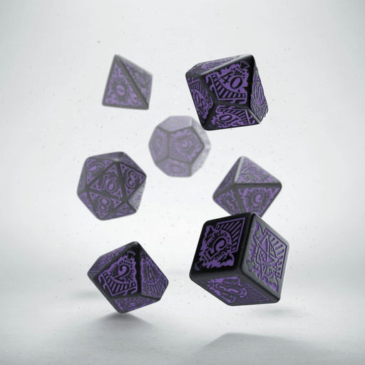Call of Cthulhu Black w/ Purple Horror O/T Orient Express Ed Dice Set (7 Pieces)