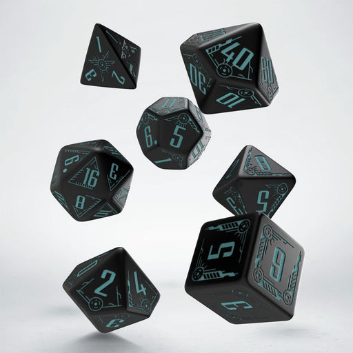 Galactic: Black/Blue Dice Set (7)