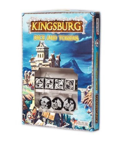 Q-Workshop Kingsburg Dice and Tokens Set - Black