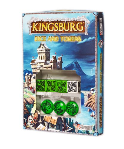 Q-Workshop Kingsburg Dice and Tokens Set - Green