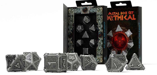 Metal 7 Piece Polyhedral Dice Set - Mythical