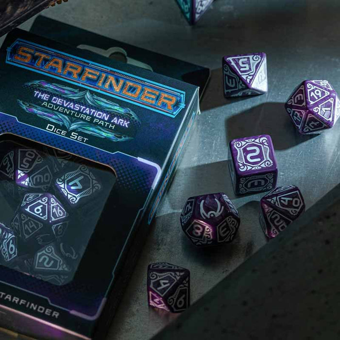 Starfinder The Devastation Ark Adventure Path 7-Piece Polyhedral Dice Set
