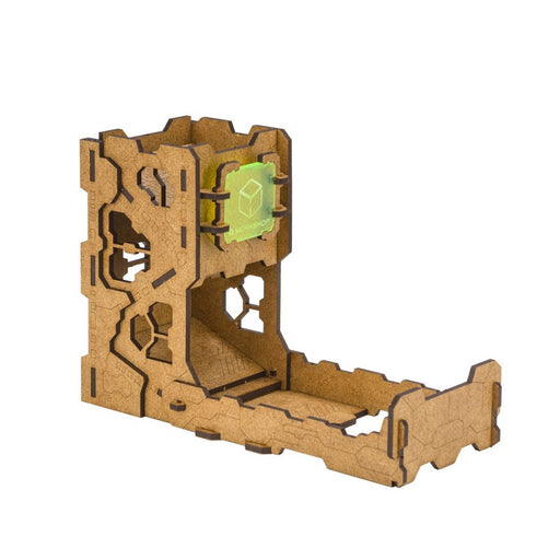 Q-Workshop Dice Tower Tech: Wooden Dice Rolling Catch