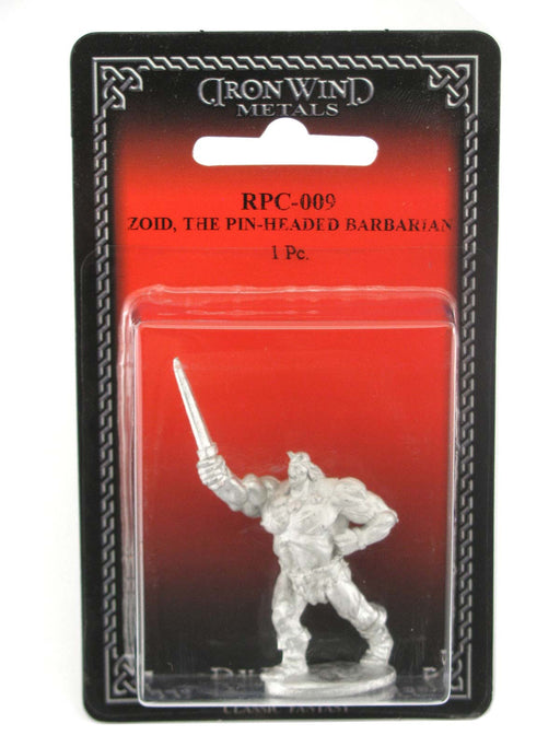 Zoid The Pin-Headed Barbarian #RPC-009 Classic Ral Partha Fantasy Metal Figure