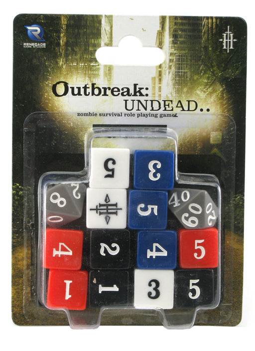 Outbreak Undead Second Edition RPG Game Dice - 14 Pieces