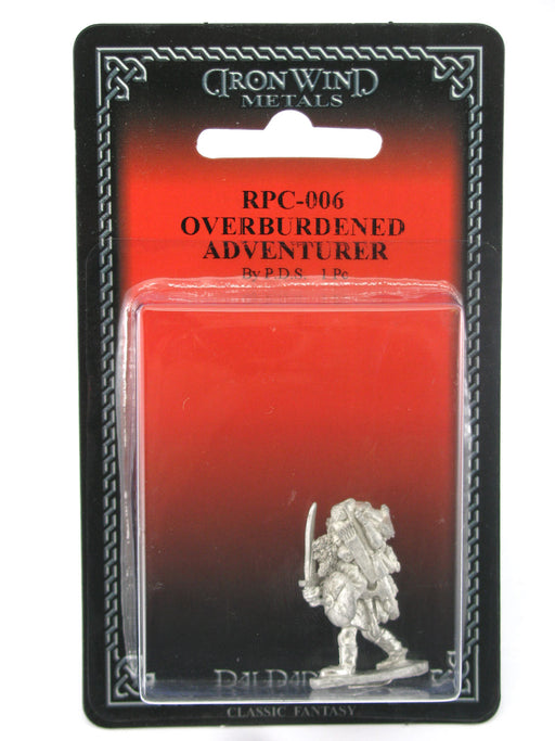 Overburdened Adventurer #RPC-006 Classic Ral Partha Fantasy RPG Metal Figure