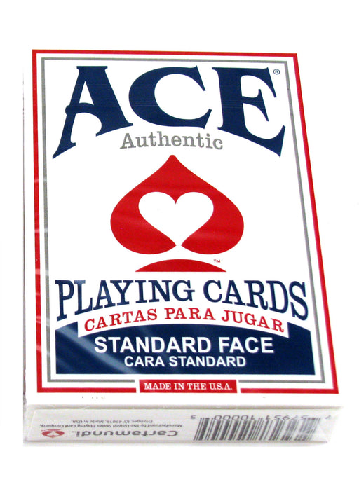 Ace Standard Size Playing Cards with Standard Faces - 1 Blue Deck