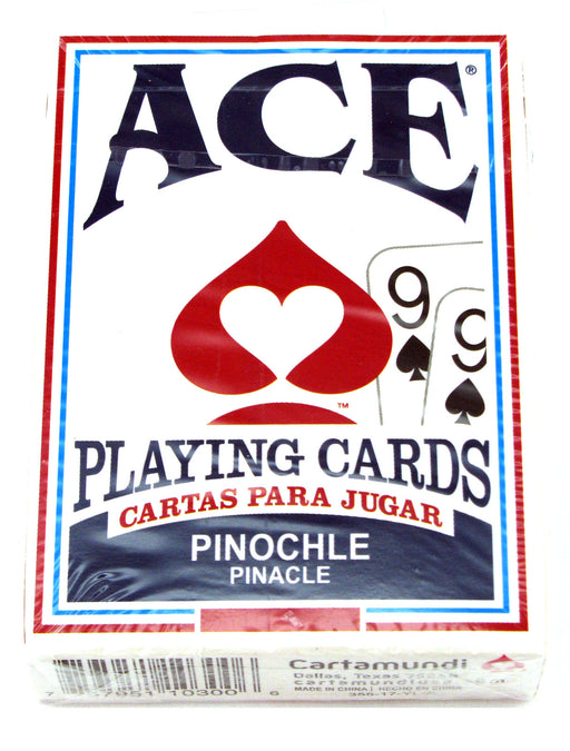 Ace Standard Size Pinochle Playing Cards - 1 Sealed Blue Deck