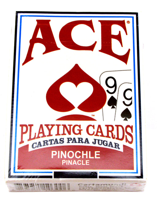 Ace Standard Size Pinochle Playing Cards - 1 Sealed Red Deck