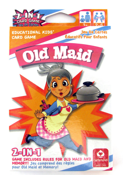 Cartamundi 2-In-1 Kids Jumbo Deck Card Game - Old Maid and Memory