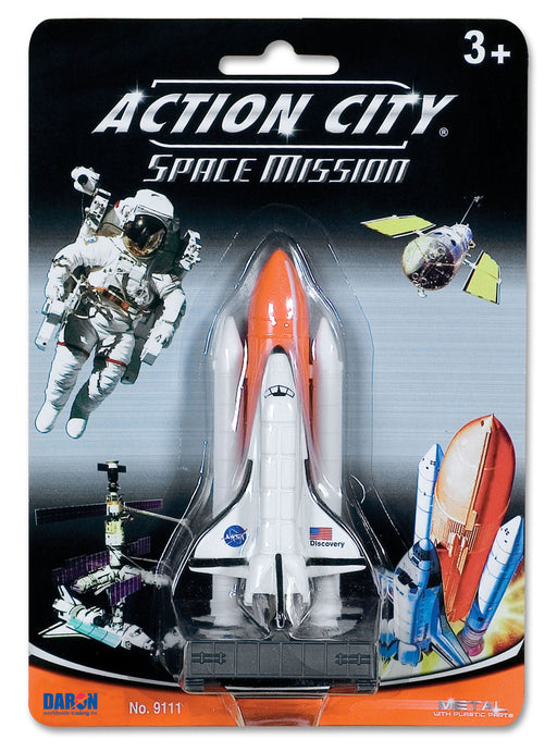 "Action City Space Mission 3"" Space Shuttle On Launch Pad Toy Model"