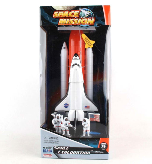 "10"" Space Shuttle Full Stack Play Model with Astronauts, Flag, and Booster"
