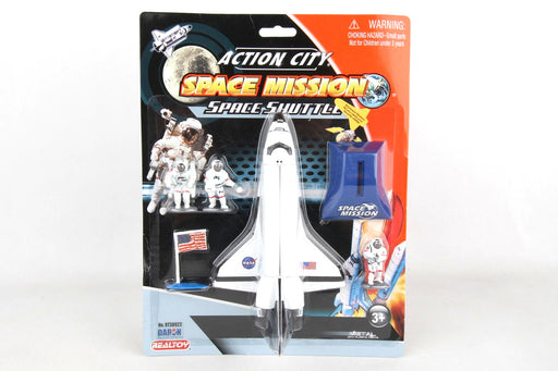 Action City Space Mission Space Shuttle 6 Piece Toy Set