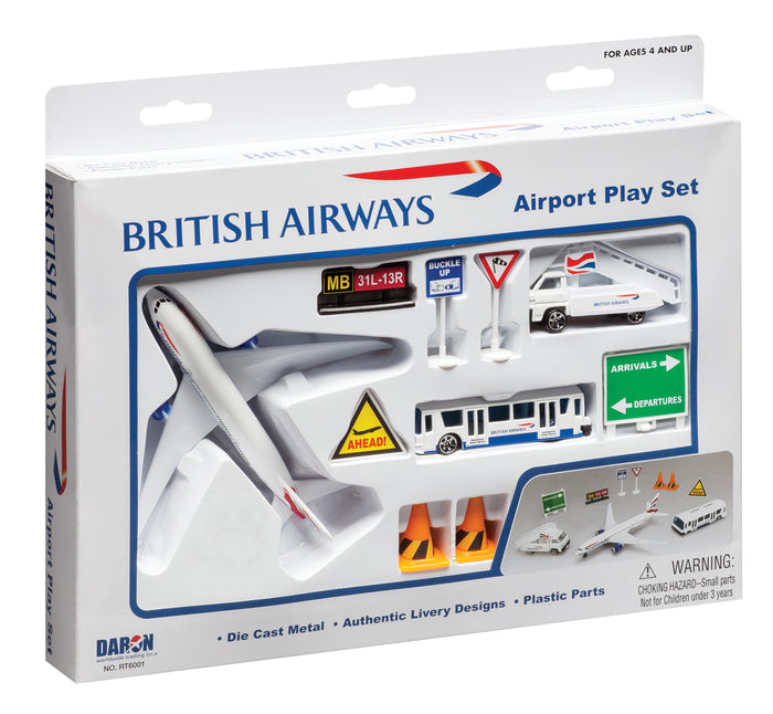 Daron 12 Piece British Airways Playset Toy Model Figures
