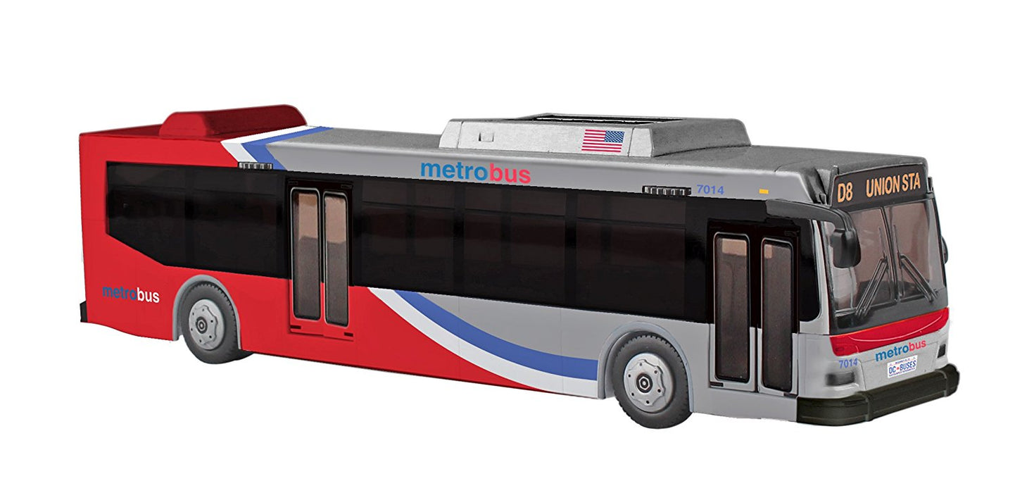 "10.5"" Daron Washington DC Metro Authentic Detail Plastic Model Replica Bus"
