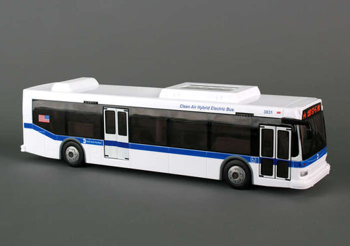 "Daron 10.5"" Plastic MTA New York City Bus Toy with Moving Parts"