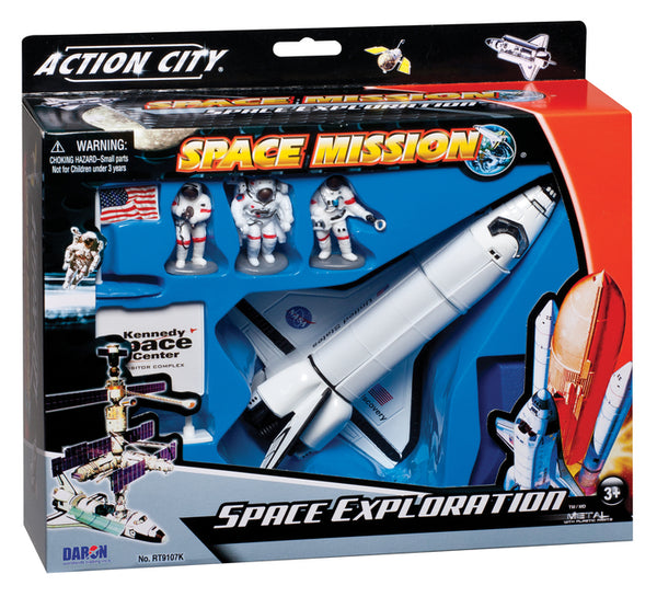 Daron Space Shuttle 7-Piece Playset with Kennedy Space Center Sign