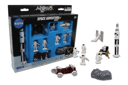Lunar Landing Space Adventure  50th Anniversary Moon Landing 9 Piece Toy Set