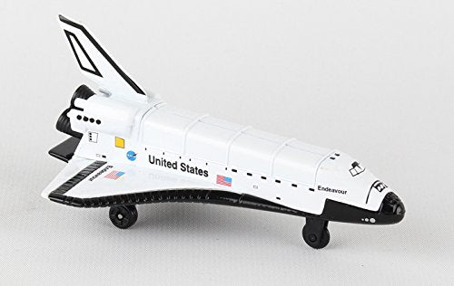 Daron Runway24 Diecast Metal Toy with Runway Section - Space Shuttle Endeavour