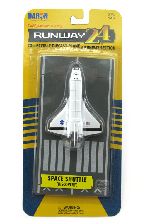 Daron Runway24 Diecast Metal Toy with Runway Section - Space Shuttle Discovery