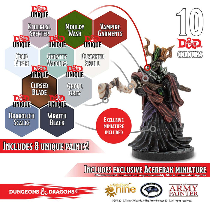 Dungeons & Dragons Nolzur`s Marvelous Pigments: Undead Paint Set