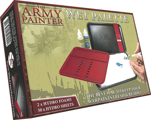 The Army Painter Wet Palette Kit: 2 Hydro Foams and 50 Hydro Sheets