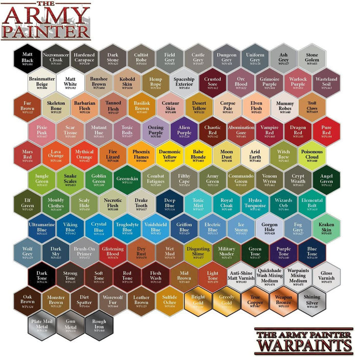 The Army Painter Acrylic Warpaints: Matte White 18mL Eyedropper Paint Bottle