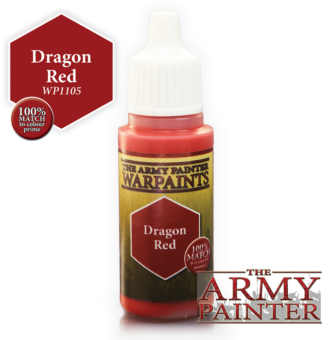 The Army Painter Acrylic Warpaints: Dragon Red 18mL Eyedropper Paint Bottle