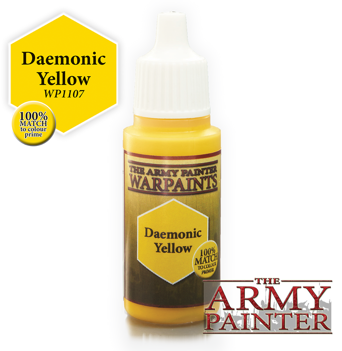 The Army Painter Acrylic Warpaints: Daemonic Yellow 18mL Eyedropper Paint Bottle