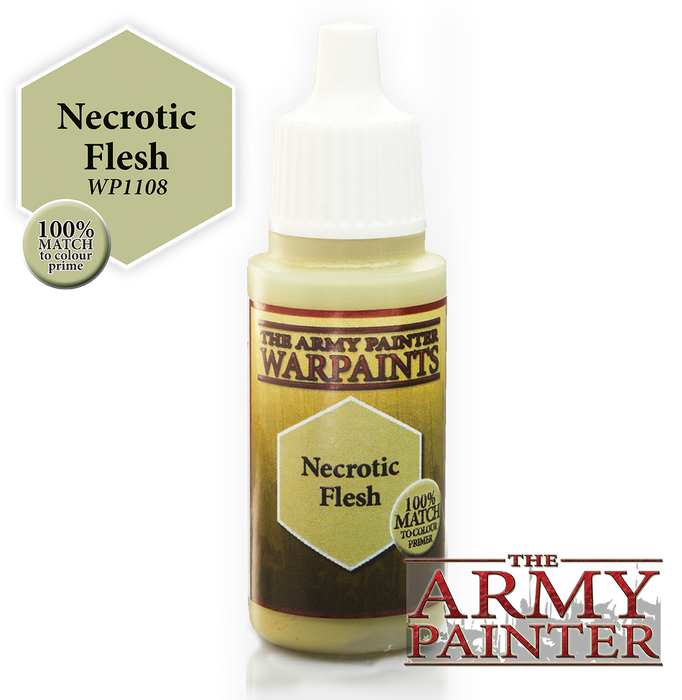 The Army Painter Acrylic Warpaints: Necrotic Flesh 18mL Eyedropper Paint Bottle
