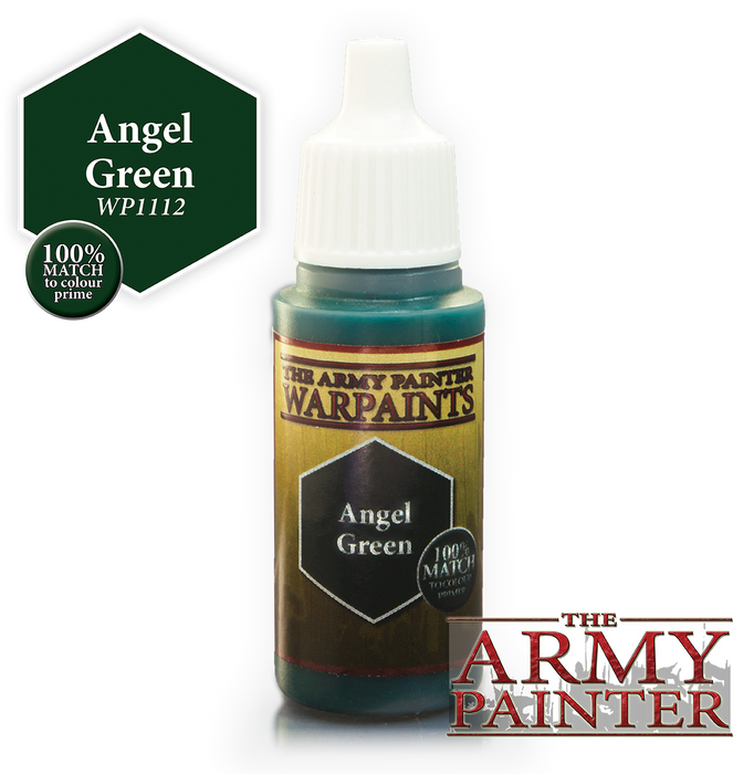 The Army Painter Acrylic Warpaints: Angel Green 18mL Eyedropper Paint Bottle