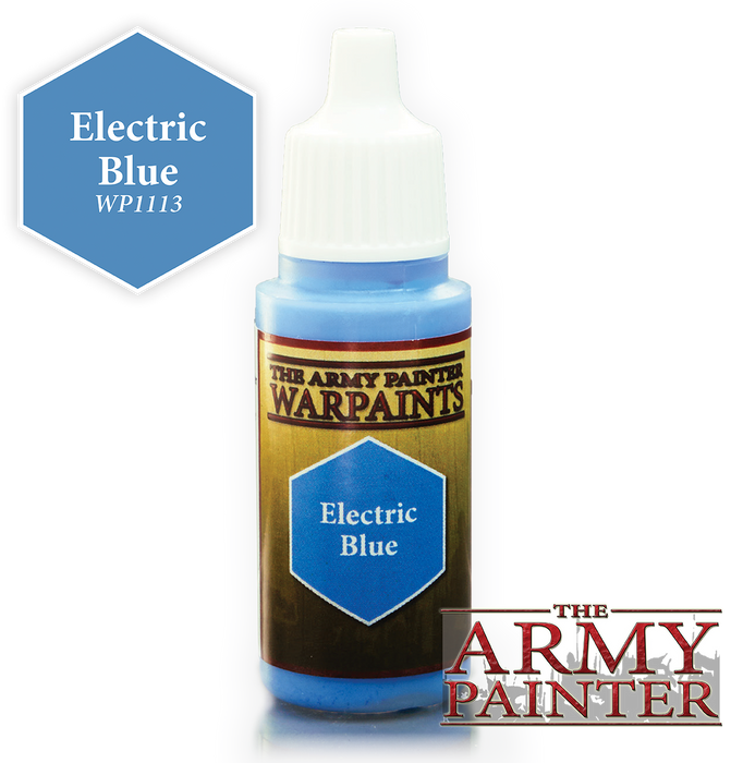 The Army Painter Acrylic Warpaints: Electric Blue 18mL Eyedropper Paint Bottle