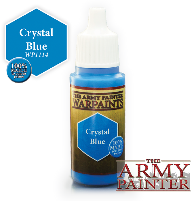 The Army Painter Acrylic Warpaints: Crystal Blue 18mL Eyedropper Paint Bottle