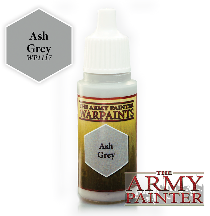 The Army Painter Acrylic Warpaints: Ash Grey 18mL Eyedropper Paint Bottle