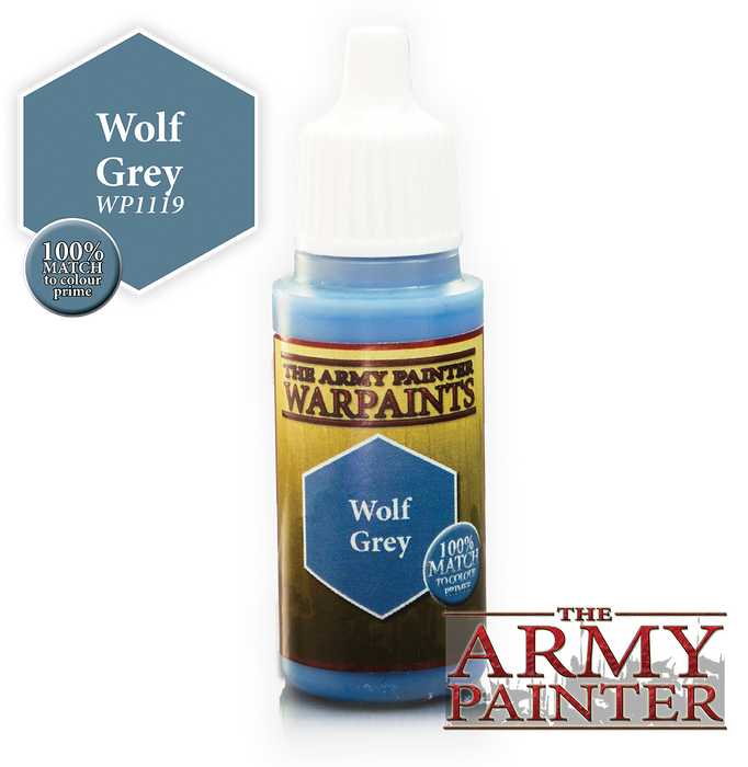 The Army Painter Acrylic Warpaints: Wolf Grey 18mL Eyedropper Paint Bottle