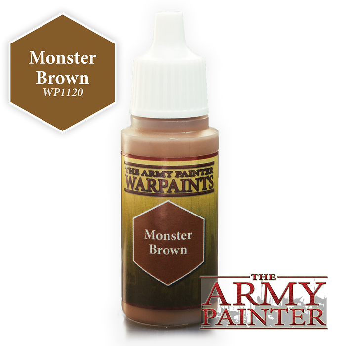 The Army Painter Acrylic Warpaints: Monster Brown 18mL Eyedropper Paint Bottle