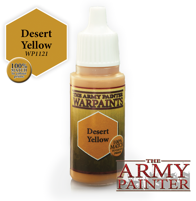 The Army Painter Acrylic Warpaints: Desert Yellow 18mL Eyedropper Paint Bottle