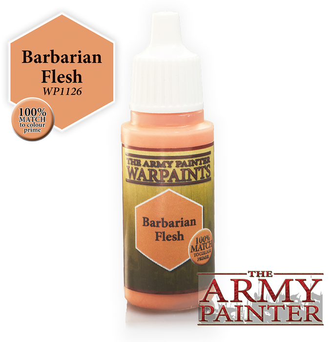 The Army Painter Acrylic Warpaints: Barbarian Flesh 18mL Eyedropper Paint Bottle