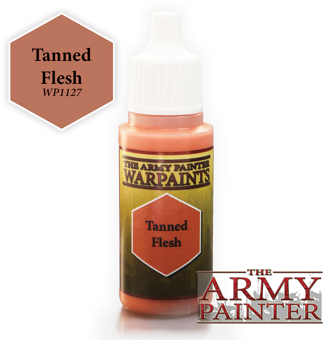 The Army Painter Acrylic Warpaints: Tanned Flesh 18mL Eyedropper Paint Bottle