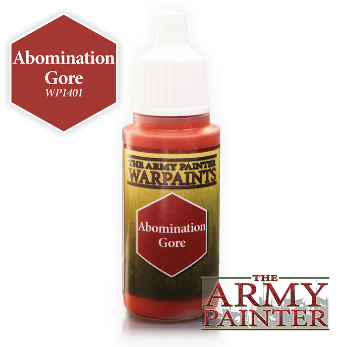 The Army Painter Acrylic Warpaints Abomination Gore 18mL Eyedropper Paint Bottle