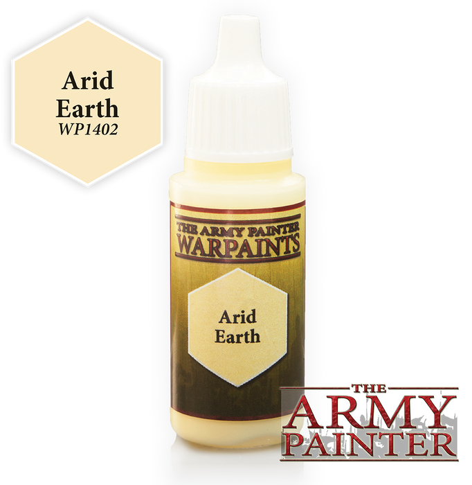 The Army Painter Acrylic Warpaints: Arid Earth 18mL Eyedropper Paint Bottle