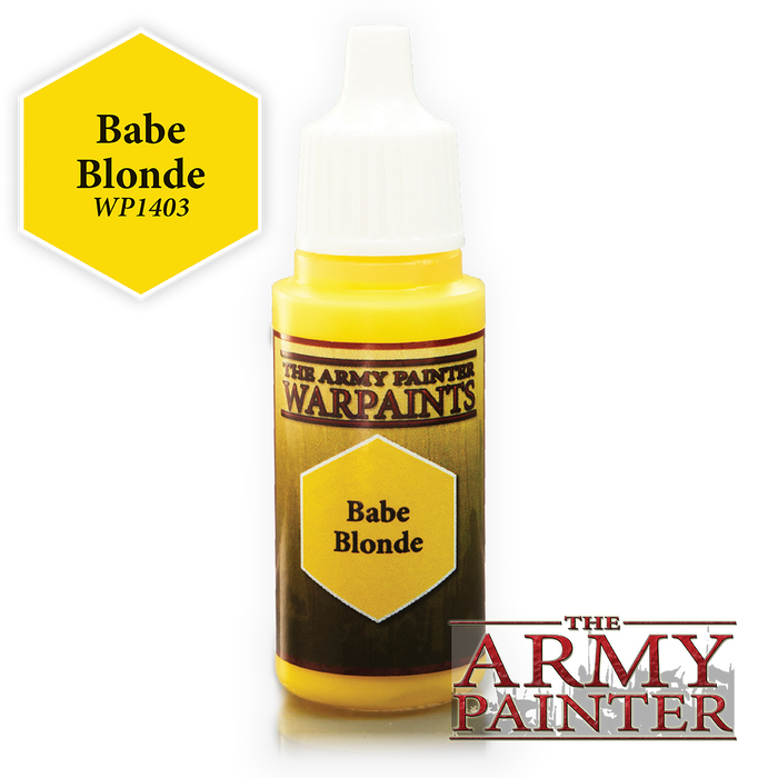 The Army Painter Acrylic Warpaints: Babe Blonde 18mL Eyedropper Paint Bottle