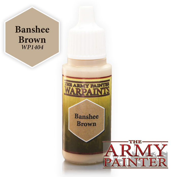 The Army Painter Acrylic Warpaints: Banshee Brown 18mL Eyedropper Paint Bottle