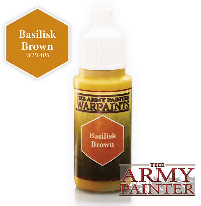The Army Painter Acrylic Warpaints: Basilisk Brown 18mL Eyedropper Paint Bottle