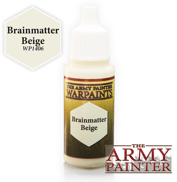 Army Painter Acrylic Warpaints: Brainmatter Beige 18mL Eyedropper Paint Bottle