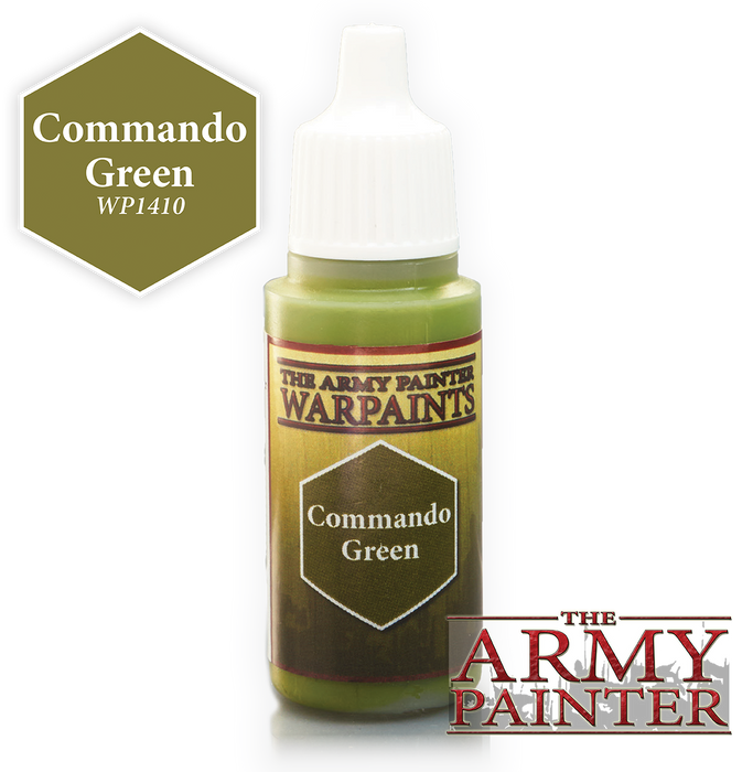 The Army Painter Acrylic Warpaints: Commando Green 18mL Eyedropper Paint Bottle